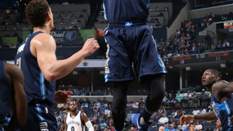 MEMPHIS, TN - APRIL 12:  Nerlens Noel #3 of the Dallas Mavericks grabs a rebound against the Memphis Grizzlies on April 12, 2017 at FedEx Forum in Memphis, Tennessee. NOTE TO USER: User expressly acknowledges and agrees that, by downloading and/or using this photograph, user is consenting to the terms and conditions of the Getty Images License Agreement. Mandatory Copyright Notice: Copyright 2017 NBAE (Photo by Joe Murphy/NBAE via Getty Images)