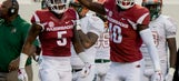 Hayden shines in debut as Arkansas downs Florida A&M 49-7 (Aug 31, 2017)