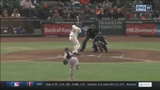 WATCH: Brewers' Davies strong despite loss to Giants