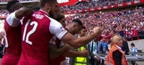 Sead Kolasinac equalizes with header | 2017 FA Community Shield Highlights
