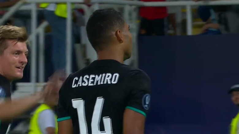 Casemiro scores the opening goal for Real Madrid vs. Man United | 2017 UEFA Super Cup Highlights