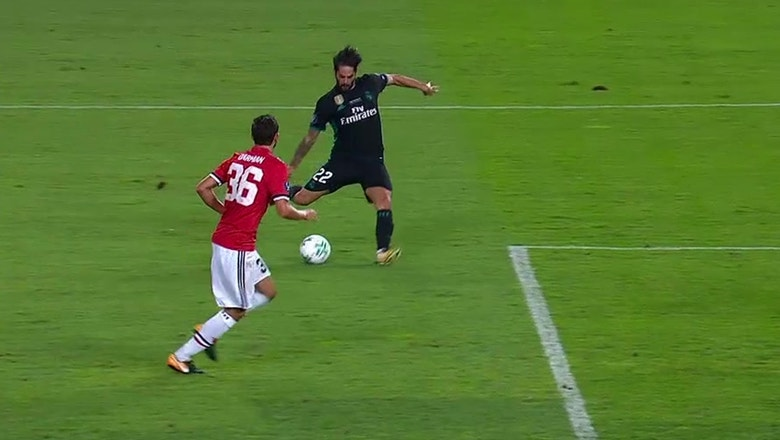 Isco goal makes it 2-0 for Real Madrid vs. Manchester United | 2017 UEFA Super Cup Highlights