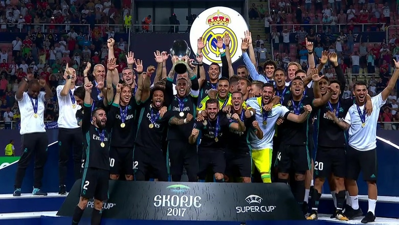 Real Madrid beats Manchester United to win their second straight UEFA Super Cup