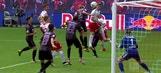 Timo Werner header equalizes for RB Leipzig vs. Freiburg | 2017-18 Bundesliga Highlights