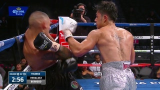 Jose Borrego knocks down Juan Heraldez with brutal left