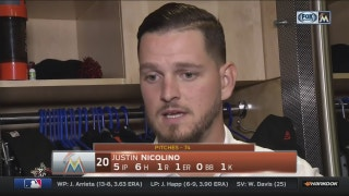 Justin Nicolino says offense picked him up with early runs