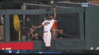 WATCH: Twins' Buxton robs homer in center field