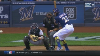 WATCH: Keon Broxton gives Brewers insurance run with solo shot