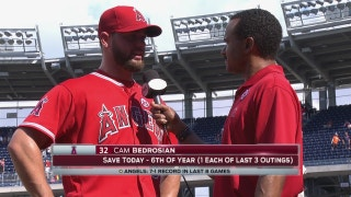 Cam Bedrosian on his sixth save: 'Everytime I come in I'm just trying to throw zeros'