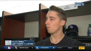 Blake Snell felt like he was in a good groove i getting his first win