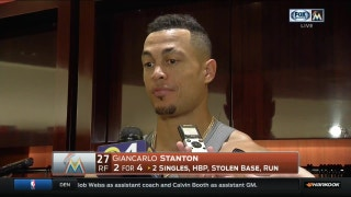 Marlins' Giancarlo Stanton on end of HR streak: 'It's all good, we won'