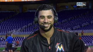 Mike Aviles the latest victim of the mischievous Marlins monkey