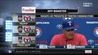 Jeff Banister on offensive attack in 12-6 win over Tigers