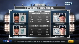 Rays look to bounce back against the Mariners
