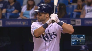 WATCH: Kevin Kiermaier turns a single into a double with his hustle