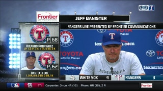 Jeff Banister on playmaking of Delino DeShields in loss