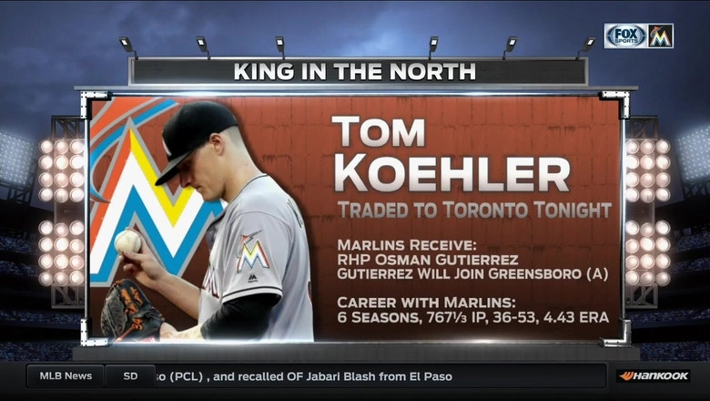 Koehler traded to the Blue Jays after six seasons