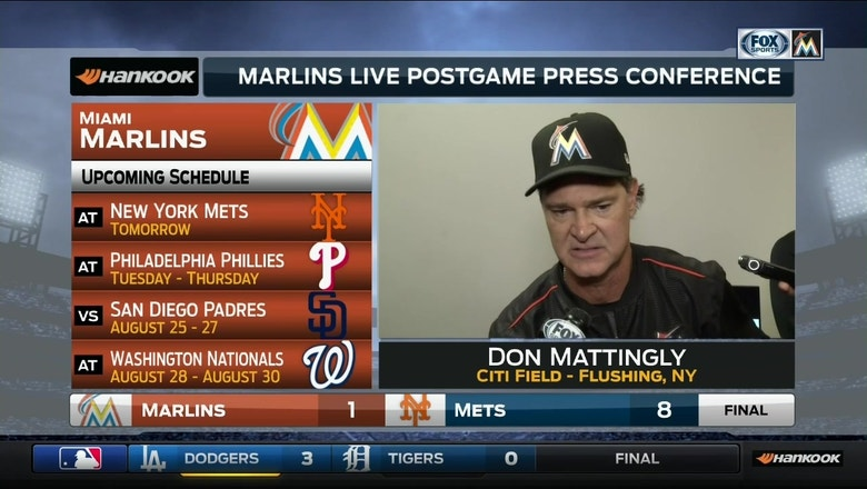Mattingly says Worley threw ball well, game didn't go Marlins way