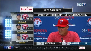 Jeff Banister talks offense, Perez turning it around in win