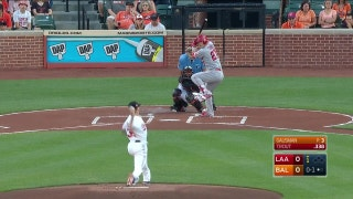 WATCH: Trout slugs 25th homer of the season in the first inning against the Orioles