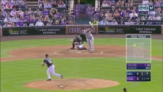 WATCH: Brewers' Aguilar busts ninth-inning tie with two-run homer