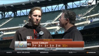 Adam Conley credits lack of mistakes for 11-strikeout day