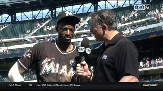 Dee Gordon on the challenges of stealing with Stanton at the plate