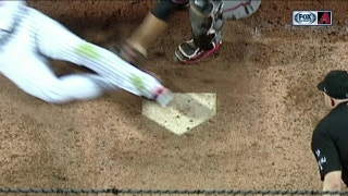 WATCH: David Peralta cuts down Mets' runner at home