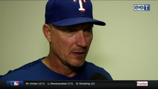 Jeff Banister talks Hamels start in 5-3 win over LA