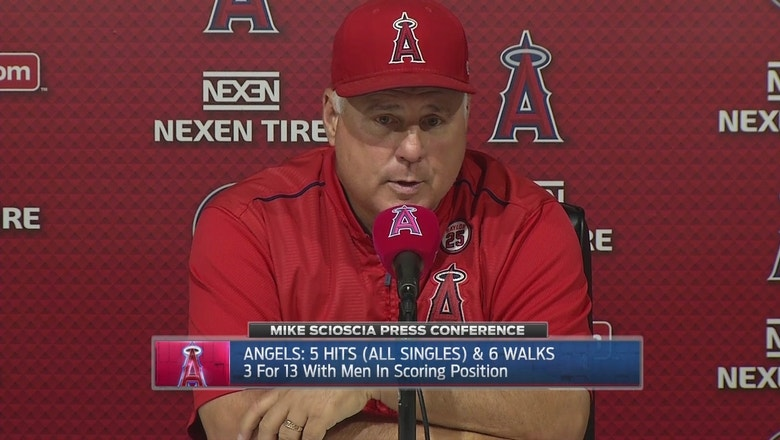 Scioscia speaks after 5-3 loss to Rangers