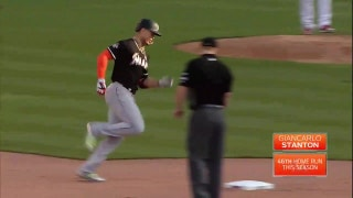 WATCH: Marlins stretch their lead with 3 HRs in 7th