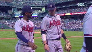 WATCH: Braves rookie Ozzie Albies starts slick double play against Rockies