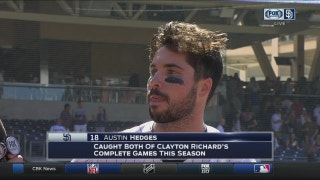 Austin Hedges on Clayton Richards' complete game shutout over the Phillies