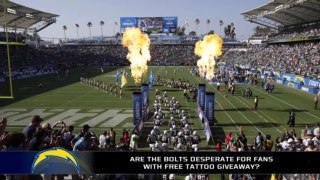 Chargers are giving away free Charger tattoos