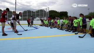 Coyotes unveil DEK hockey rink at El Mirage YMCA