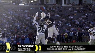 How are the Chargers viewed on the east coast?