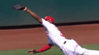 Michael Taylor makes great diving catch against Angels