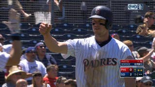 Wil Myers steals home in Padres' 3-0 win over Phillies