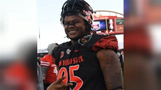Aztec DL Noble Hall discusses his decision to change his name to honor his late father