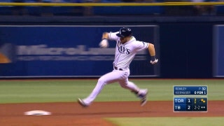 HIGHLIGHTS: 2 RBI triples off the bats of Kiermaier and Longoria