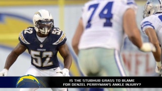 Did StubHub Center's grass play a role in Denzel Perryman's ankle injury?