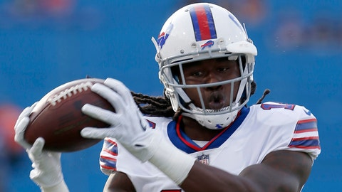 Aug 10, 2017; Orchard Park, NY, USA; Buffalo Bills wide receiver Sammy Watkins (14) catches a ball before a game against the Minnesota Vikings at New Era Field. Mandatory Credit: Timothy T. Ludwig-USA TODAY Sports