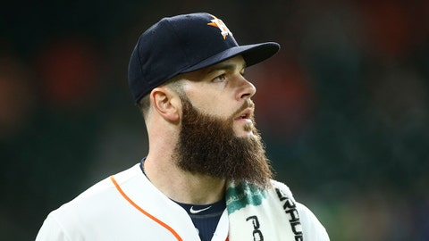 Aug 2, 2017; Houston, TX, USA; Houston Astros starting pitcher Dallas Keuchel (60) walks to the bullpen prior to the game against the Tampa Bay Rays at Minute Maid Park. Mandatory Credit: Troy Taormina-USA TODAY Sports