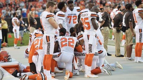 Seth DeValve on players praying during national anthem