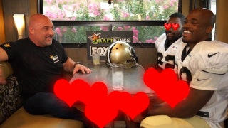 What was the first meeting between Adrian Peterson and Mark Ingram like as teammates?