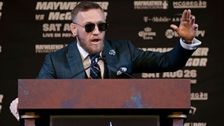 Better late than never! Conor McGregor arrived 45 mins tardy to last May-Mac presser