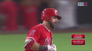 WATCH: Kaleb Kowart goes yard to help Angels pull away in 10-1 win over Rangers