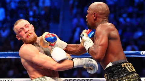 VIDEO: Watch the highlights from Floyd Mayweather's TKO win over Conor McGregor
