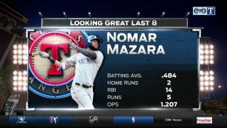 Mazara red-hot during Rangers winning streak