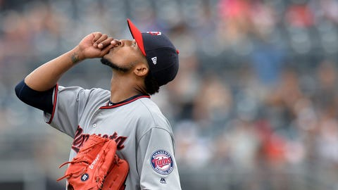 Twins overcome three errors, beat Brewers on a balk, 5-4